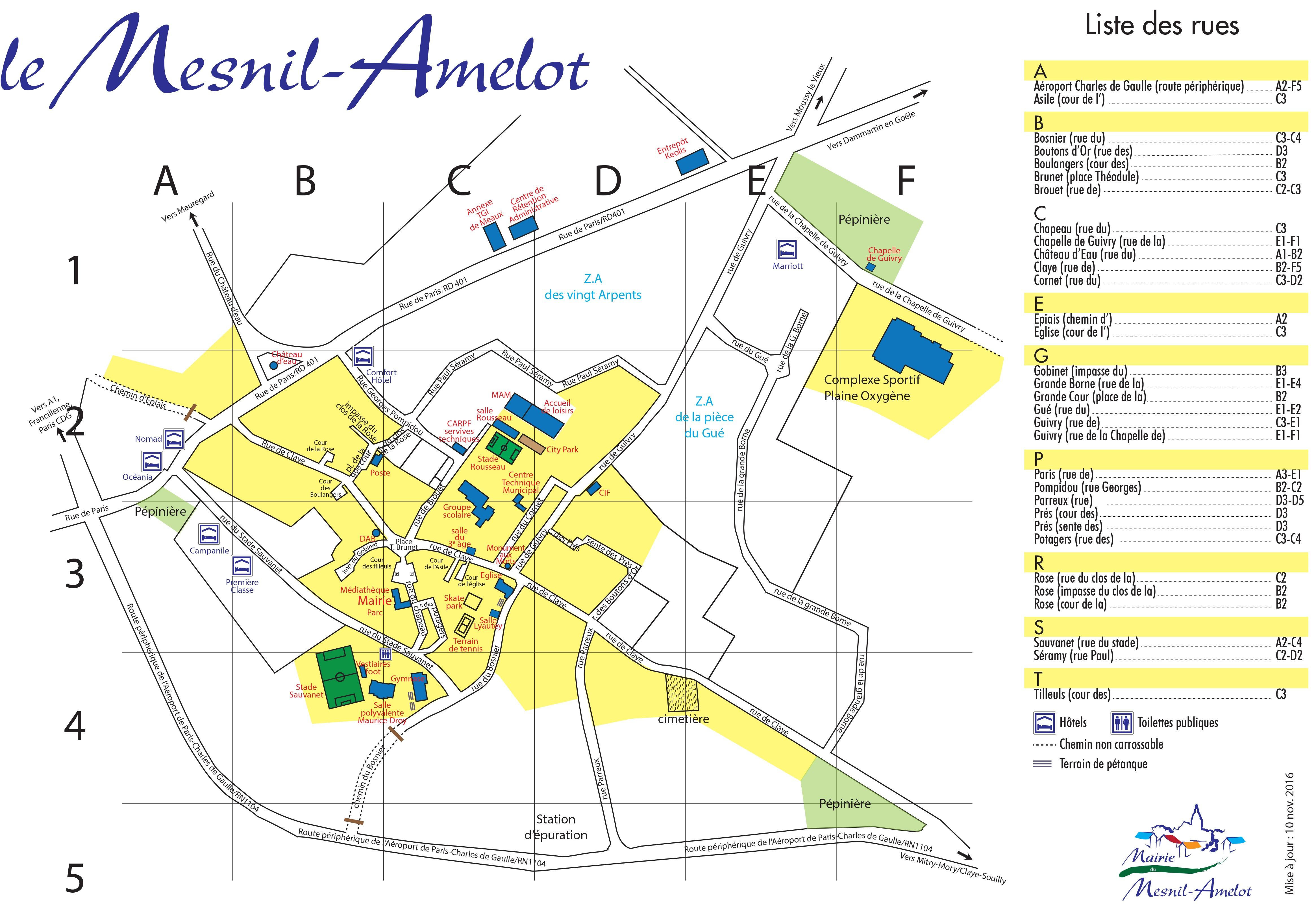 Plan de la ville