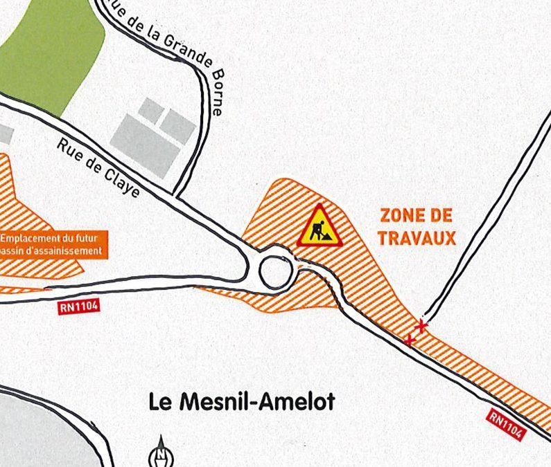Fermeture de l'accès à la rue Parreux depuis la RN 1104